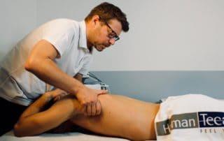 Trattamento di recupero muscolare: mobilizzazioen con Tecarterapia Human Tecar